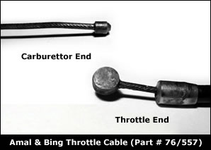 Villiers Throttle Cable